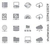 server icons. gray flat design. ...   Shutterstock .eps vector #1039610029