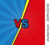 comic book versus template... | Shutterstock .eps vector #1039610233