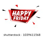 happy friday  sign with red...   Shutterstock .eps vector #1039611568
