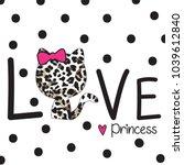 Stock vector leopard pattern cat vector love card design kids t shirt 1039612840