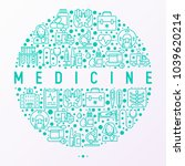 medicine concept in circle with ... | Shutterstock .eps vector #1039620214