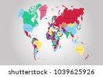 world map vector. | Shutterstock .eps vector #1039625926