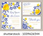 vector set of invitation cards... | Shutterstock .eps vector #1039626544