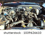 the car's engine is under the... | Shutterstock . vector #1039626610