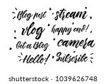 video blog lettering collection.... | Shutterstock .eps vector #1039626748