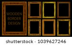 set of gold photo frames with... | Shutterstock .eps vector #1039627246