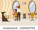 interior of a hairdressing...   Shutterstock .eps vector #1039635793
