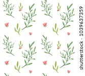 high quality watercolor spring... | Shutterstock . vector #1039637359
