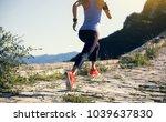 sporty fitness woman trail... | Shutterstock . vector #1039637830