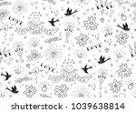 old school tattoos seamles... | Shutterstock .eps vector #1039638814