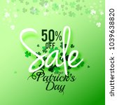saint patricks day sale poster... | Shutterstock .eps vector #1039638820