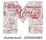 vector conceptual mental health ... | Shutterstock .eps vector #1039643683
