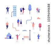 citizens   flat design style... | Shutterstock .eps vector #1039644688