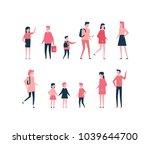 children   flat design style... | Shutterstock .eps vector #1039644700