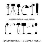 set of black silhouette floor...   Shutterstock .eps vector #1039647550