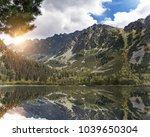 mountain landscape on the... | Shutterstock . vector #1039650304