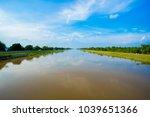 landscape of waterway canal in...   Shutterstock . vector #1039651366
