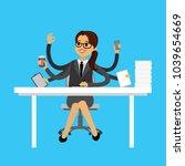 successful multitasking... | Shutterstock .eps vector #1039654669