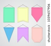 pennant hanging flags... | Shutterstock .eps vector #1039657906