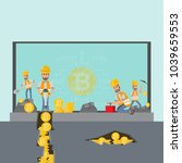 cryptocurrency concept.... | Shutterstock .eps vector #1039659553