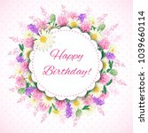 cute hand drawn card with... | Shutterstock . vector #1039660114