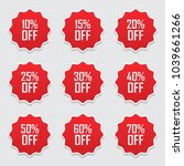 sale tags set vector badges... | Shutterstock .eps vector #1039661266