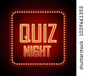quiz night announcement poster... | Shutterstock .eps vector #1039661353