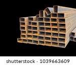 metal. rectangular steel pipe.  ...   Shutterstock . vector #1039663609