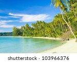 jungle lagoon serenity shore | Shutterstock . vector #103966376