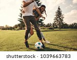 playful friends. group of young ... | Shutterstock . vector #1039663783
