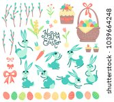 set of design elements and... | Shutterstock .eps vector #1039664248