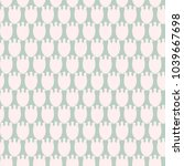 simple pastel floral pattern... | Shutterstock .eps vector #1039667698