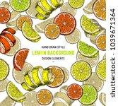 citrus fruit vector cover....   Shutterstock .eps vector #1039671364