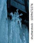 frozen waterfall sculpture at... | Shutterstock . vector #1039672276
