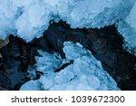frozen waterfall sculpture at... | Shutterstock . vector #1039672300