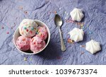 homemade strawberry and vanilla ... | Shutterstock . vector #1039673374