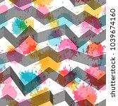 template seamless abstract... | Shutterstock .eps vector #1039674160