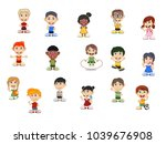 set of children cartoon | Shutterstock . vector #1039676908