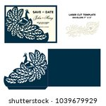 laser cut template. peacock... | Shutterstock .eps vector #1039679929