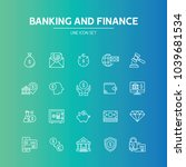 banking and finance line icon | Shutterstock .eps vector #1039681534