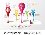 colorful vector timeline laout. ... | Shutterstock .eps vector #1039681606