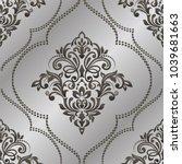 damask seamless pattern for... | Shutterstock .eps vector #1039681663