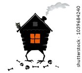 the house of forest witch on... | Shutterstock .eps vector #1039684240