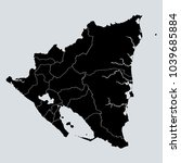 black nicaragua map with... | Shutterstock .eps vector #1039685884