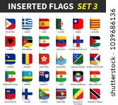 all flags of the world set 3 .... | Shutterstock .eps vector #1039686136