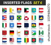 all flags of the world set 6 .... | Shutterstock .eps vector #1039686370