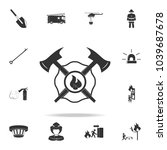 firefighter emblem icon.... | Shutterstock .eps vector #1039687678