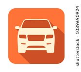 orange icon with shadow effect... | Shutterstock .eps vector #1039690924