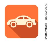 orange icon with shadow effect... | Shutterstock .eps vector #1039692073