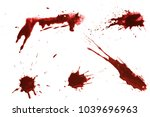 blood dripping set  isolated on ... | Shutterstock . vector #1039696963